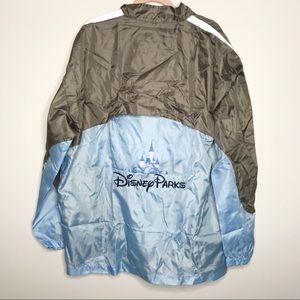 Disney Parks exclusive blue gray windbreaker coat